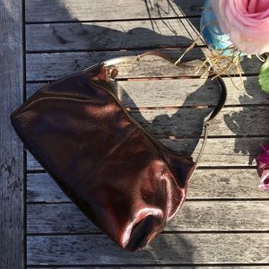 Tod's Brown Patent Leather Hobo Bag